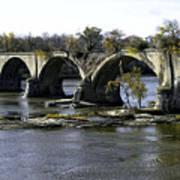 Interurban Bridge At Roche De Bout Art Print