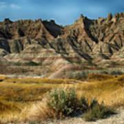 Into The Badlands South Dakota Art Print
