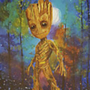 Into The Eyes Of Baby Groot Art Print