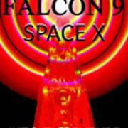 Into The Future Falcon 9 Art Print
