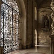 Intricate Ironwork - Lacy Wrought Iron Gates Art Print