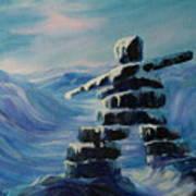 Inukshuk My Northern Compass Art Print
