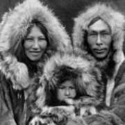 Inupiat Family Portrait - Alaska 1929 Art Print