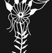 Inverted Small Flower Art Print