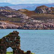 Iona Ruins And Mull Hills Art Print
