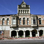 Watsonville I. O. O. F. Building Built In 1893  Damaged By The Loma Prieta Earthquake 1989 Art Print