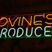 Iovines Produce Art Print