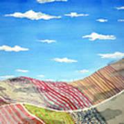 Iowa Fields  Iowa Clouds Print by Jame Hayes