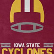 Iowa State Cyclones Vintage Football Art Art Print