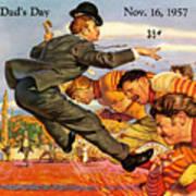 Iowa Vs Ohio State 1957 Program Art Print