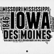 Iowa Word Cloud 2 Art Print