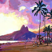Ipanema Sunset Art Print
