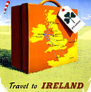 Ireland Vintage Travel Poster Restored Art Print