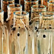 Iridescent Bottle Parade Art Print