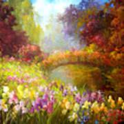 Iris-- Covered Bridge Art Print