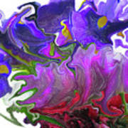 Iris And Tulip Art Print