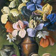 Iris In Brass Pitcher Art Print