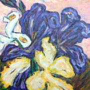 Iris Still Life Art Print