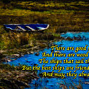 Irish Blessing - There Are Good Ships... Art Print