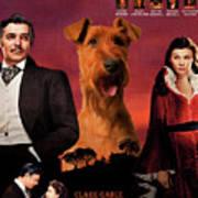 Irish Terrier Art Canvas Print - Gone To The Wind Movie Poster Art Print