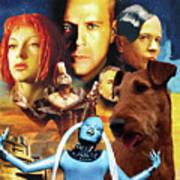 Irish Terrier Art Canvas Print - The Fifth Element Movie Poster Art Print