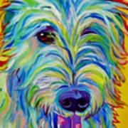 Irish Wolfhound - Angus Art Print by Alicia VanNoy Call