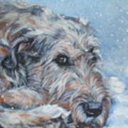 Irish Wolfhound Resting Art Print