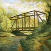Iron Bridge Over Cicero Creek Art Print