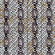 Iron Chains With Metal Panels Seamless Texture Art Print