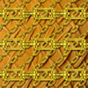 Iron Chains With Plush Texture Art Print