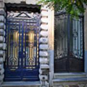 Iron Door Of Brussels Art Print
