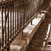 Iron Fence With Shadows Art Print