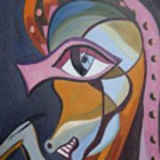 Iron Horse Head Art Print