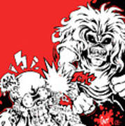 Iron Maiden Vs Megadeth Art Print