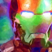 Ironman Abstract Digital Paint 1 Art Print