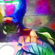 Ironman Abstract Digital Paint 3 Art Print