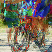 Ironman Bicyclist 2109 Art Print by David Mosby