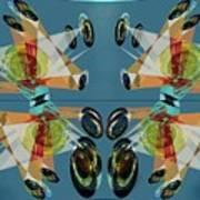 Irregular Mirrored Watches Art Print
