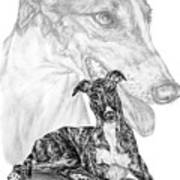 Irresistible - Greyhound Dog Print Art Print
