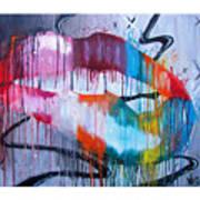 Irresistible Lips 40x30 Art Print
