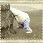 Is Bunny Behind Tree? Art Print