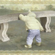 Is Bunny Under The Bench? Art Print