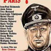 Is Paris Burning Gert Frobe As General Dietrich Von Chlitz German Theatrical Poster 1966 Art Print