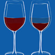 Is The Glass Half Empty Or Half Full Print by Frank Tschakert