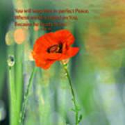 Isaiah 26 3 Of Beverly Guilliams Art Print