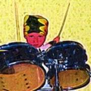 Isaiah The Drummer Art Print