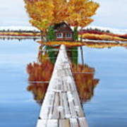Island Cabin 2 Art Print