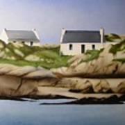 Island Cottages Art Print