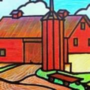 Island Ford Barn 2 Art Print