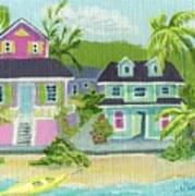 Island Houses Art Print